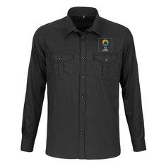 Camisa de manga larga enrollable de Russell™ para hombre