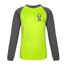 Sport-Tek® Youth Sport-Wick® Raglan Colorblock Fleece Crewneck