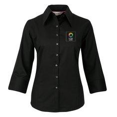 Camicia aderente con maniche a tre quarti da donna in Tencel® Russell™