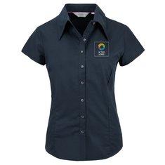 Camicia aderente da donna con manica ad aletta in Tencel® Russell™