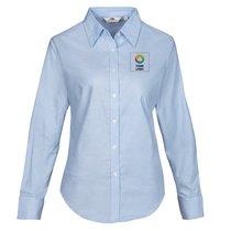 Fruit of the Loom® Women's Oxford Long Sleeve Shirt