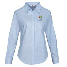 Fruit of the Loom® Oxford damesshirt met lange mouwen