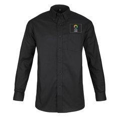 Langærmet oxfordvævet herreskjorte fra Russell™ med nem vedligeholdelse