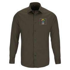 Camisa entallada de manga larga y fácil cuidado de Russell™ para hombre