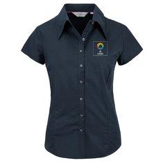 Russell™ Tencel® getailleerd damesshirt met kapmouw