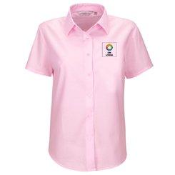 Russell™ kortärmad lättskött Oxford-skjorta i dammodell