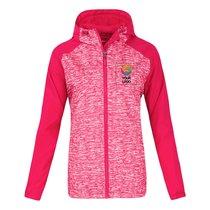 Sport-Tek® Ladies Heather Colorblock Raglan Hooded Wind Jacket