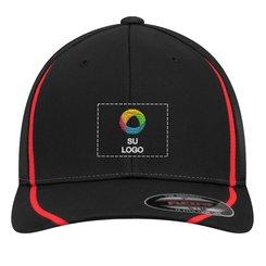 Gorra Flexfit® deportiva con bloques de colores de Sport-Tek®