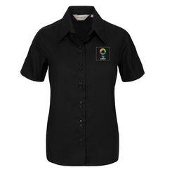 Camisa de manga corta que no requiere planchado de Russell™ para mujer