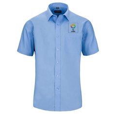 Camisa de manga corta de polialgodón con popelín para hombre de Russell™