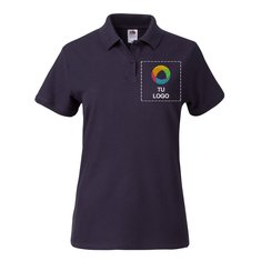 Polo Premium de 100 % algodón de Fruit of the Loom® para mujer