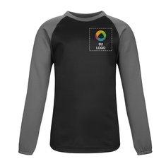 Suéter de forro polar Sport-Tek® Sport-Wick® con cuello redondo, mangas raglán y bloques de color
