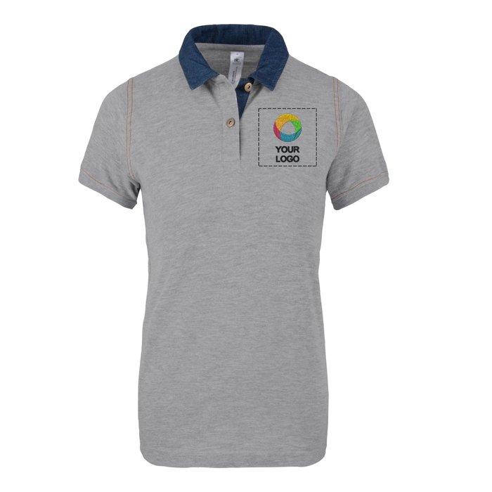 B&C™ Denim Women's Forward Short Sleeve Polo Shirt