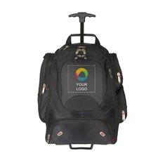 Mochila para computadora con rueditas y apta para controles de seguridad de elleven™