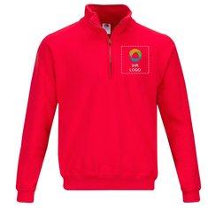 Fruit of the Loom® Classic Sweatshirt mit halbem Reißverschluss