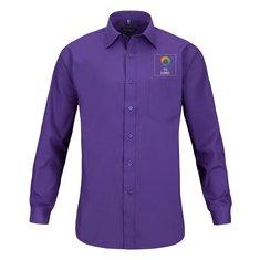 Camisa de hombre de manga larga de polialgodón con popelina de Russell™