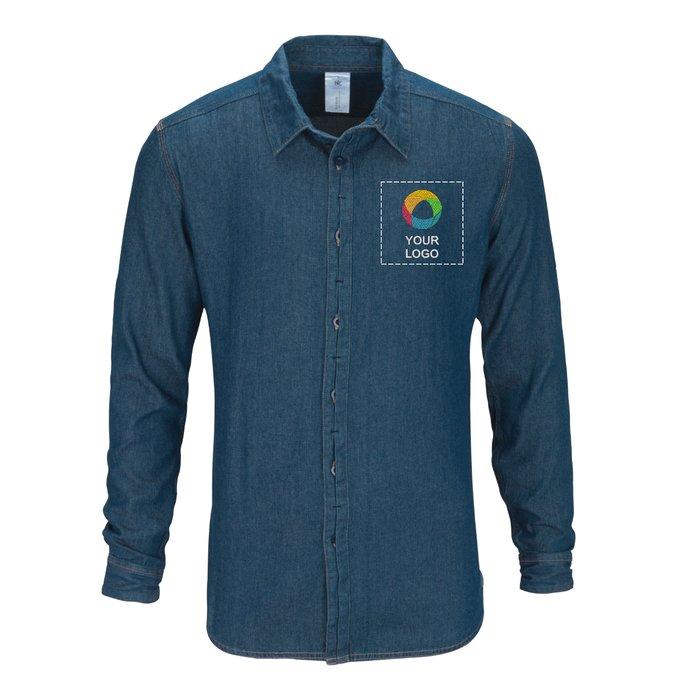 B&C™ Denim Vision Men's Long Sleeve Shirt