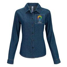B&C™ Vision langærmet denimskjorte til kvinder