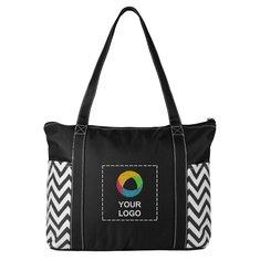 Geometric Zippered Business Tote Bag