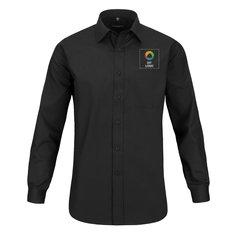 Langærmet poplinskjorte i polyester og bomuld til herrer fra Russell™.