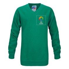 Sweatshirt mit V-Ausschnitt für Kinder von Russell™