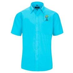 Kurzärmeliges Polycotton-Popeline-Hemd für Herren von Russell™