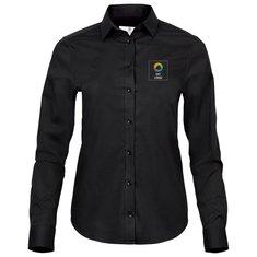 Tee Jays® langærmet luksuspoplinskjorte med stræk
