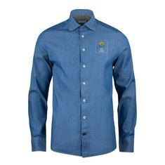 J.Harvest & Frost Indigo Bow 130 skjorte med slank pasform