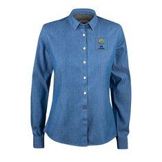 J.Harvest & Frost Indigo Bow 130 skjorta i dammodell