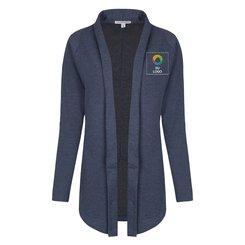 Suéter cerrado tipo polo Port Authority® Interlock para damas