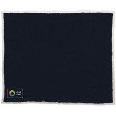 Field & Co™ Lauren tæppe i sherpafleece med tern