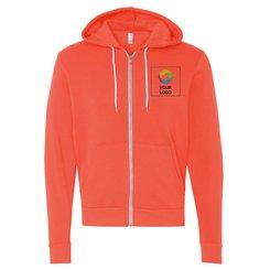 Bella + Canvas Unisex Full-Zip Hooded Sweatshirt