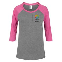 District Made® Ladies Perfect Tri® 3/4-Sleeve Raglan