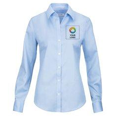 Calvin Klein® Ladies' Non-Iron Micro Pincord Long Sleeve Shirt