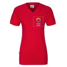 CottoVer® GOTS T-shirt med V-ringning, i dammodell