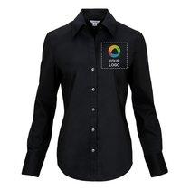 Calvin Klein® Ladies' Cotton Stretch Long Sleeve Shirt