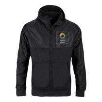 Sport-Tek® Embossed Hybrid Full-Zip Hooded Jacket