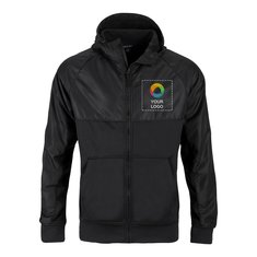 Sport-Tek® Embossed Hybrid Full-Zip Hooded Jacket