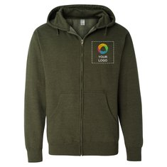 Independent Trading Co. Midweight Full-Zip Hooded Sweatshirt