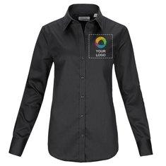 Calvin Klein® Ladies' Non-Iron Dobby Pindot Long Sleeve Shirt