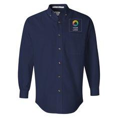 Camisa de sarga FeatherLite de manga larga resistente a las manchas