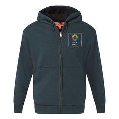 CornerStone® Heavyweight Full-Zip Hooded Sweatshirt with Thermal Lining