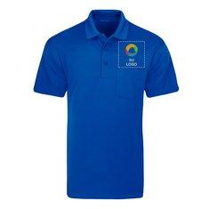 Camisa polo con bolsillo de micropiqué Sport-Wick® de Sport-Tek®