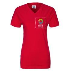 T-shirt femme col en V GOTS de CottoVer®