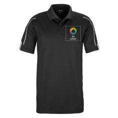 Camisa polo adidas® Golf ClimaLite con manga de tres franjas