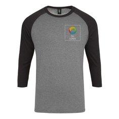 Camiseta Perfect Tri® con mangas raglán de 3/4 para hombre de District Made®