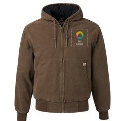 Chaqueta DRI DUCK Boulder Cloth con capucha y forro de tricot acolchado