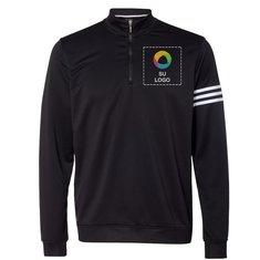 Suéter cerrado adidas® ClimaLite® Three-Stripe de terry francés