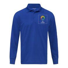 Camisa polo Sport-Wick® de micropiqué y manga larga de Sport-Tek®