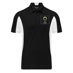 Camisa polo Sport-Wick® de micropiqué con bloques laterales de color de Sport-Tek®
